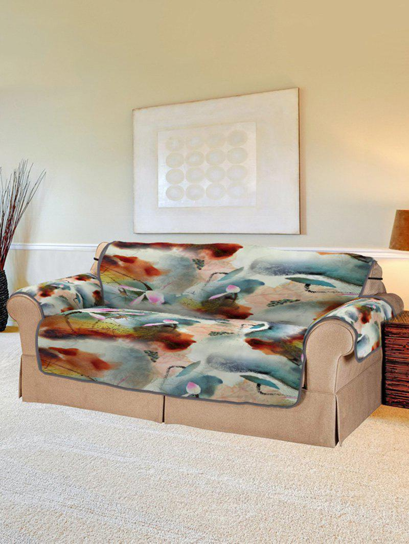 Trendy Lotus Pattern Couch Cover