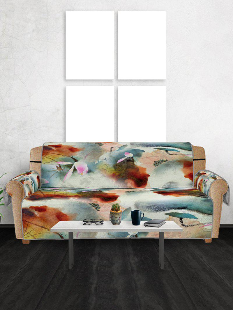 Fashion Lotus Pattern Couch Cover