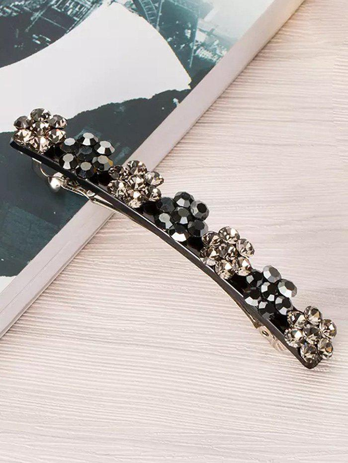 Fancy Floral Design Rhinestone Inlaid Hairpin