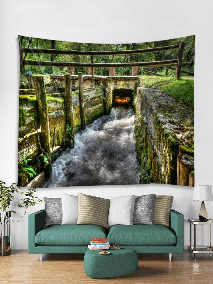 Outfit Forest Small Bridge Scenery Print Wall Art Tapestry