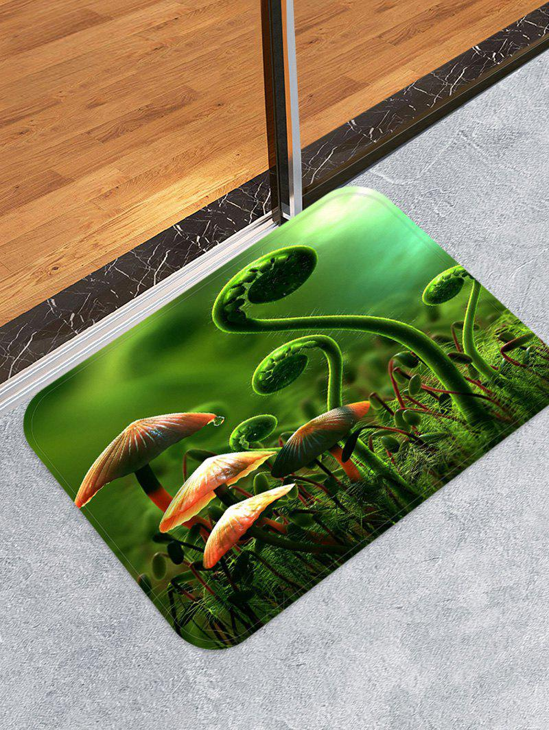 Outfit Fern and Mushroom Pattern Water Absorption Area Rug