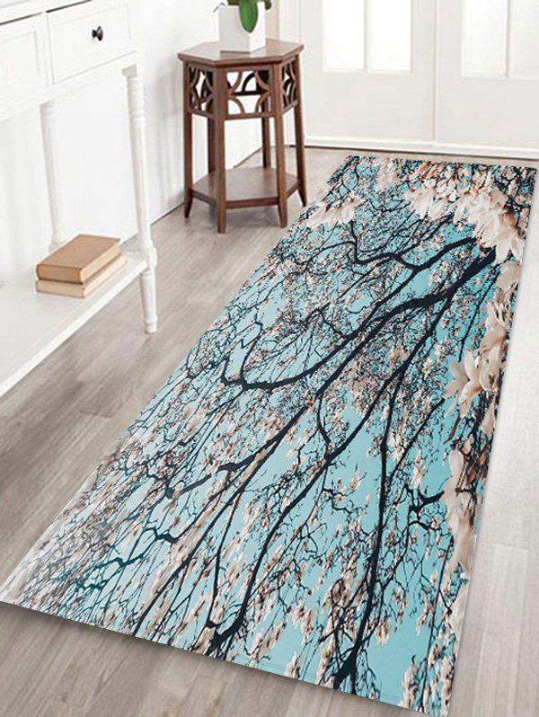 Fashion Flower Pattern Decorative Floor Mat