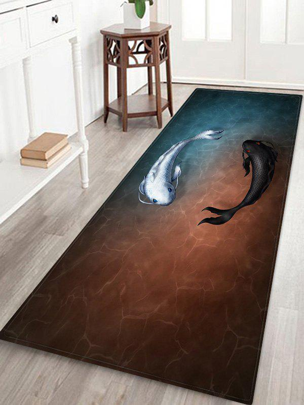 Fashion Fish Print Decorative Floor Mat