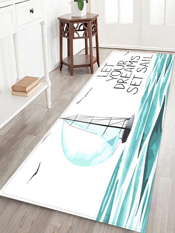 Hot Dreams Sail Pattern Water Absorption Area Rug