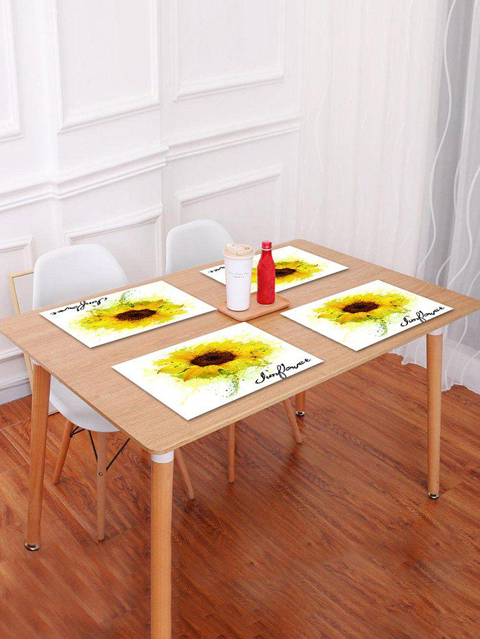 Discount Sunflower Painting Pattern Table Placemat