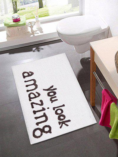 Affordable Letters Pattern Water Absorption Area Rug