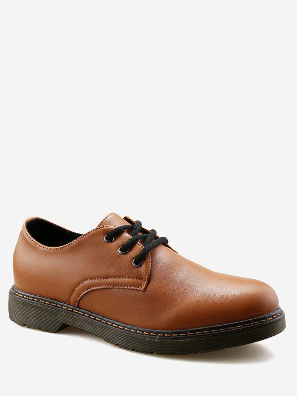 Sale Lace Up Casual PU Leather Shoes