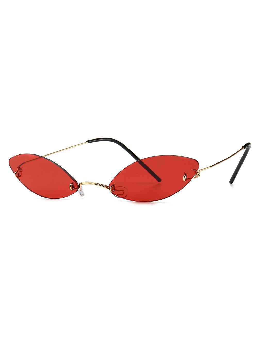 Outfit Narrow Lens Modern Style Sunglasses
