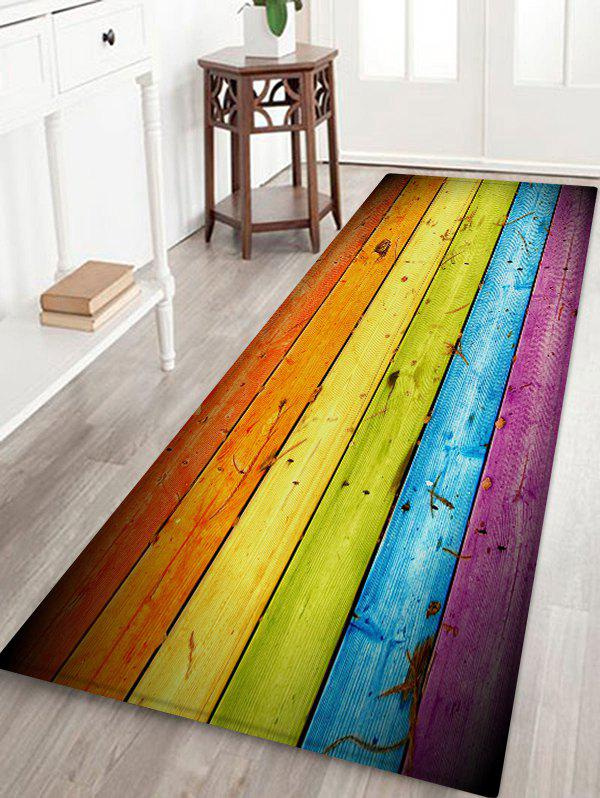 Buy Colorful Wood Grain Printed Antiskid Area Rug