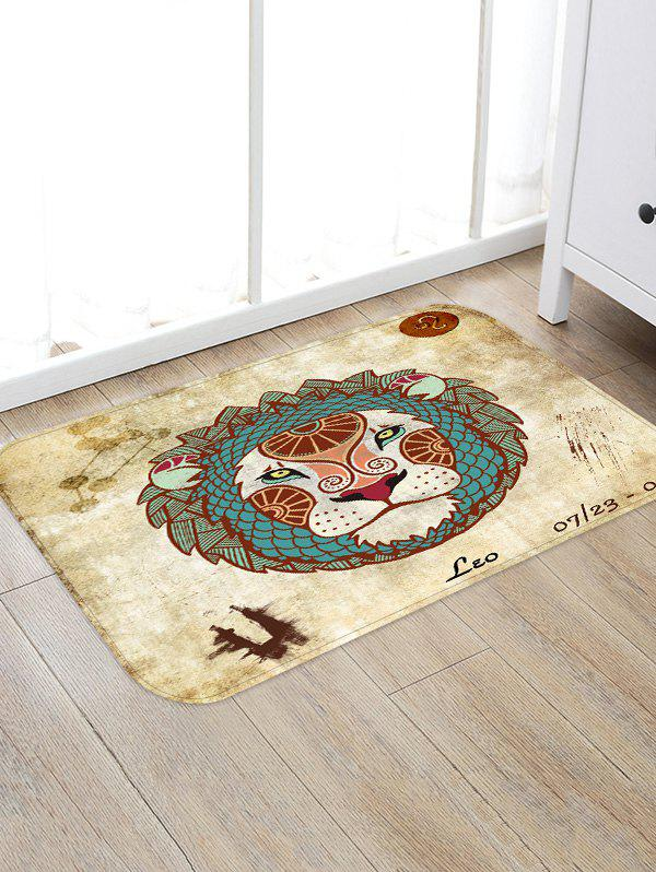 Cheap Leo Pattern Water Absorption Area Rug