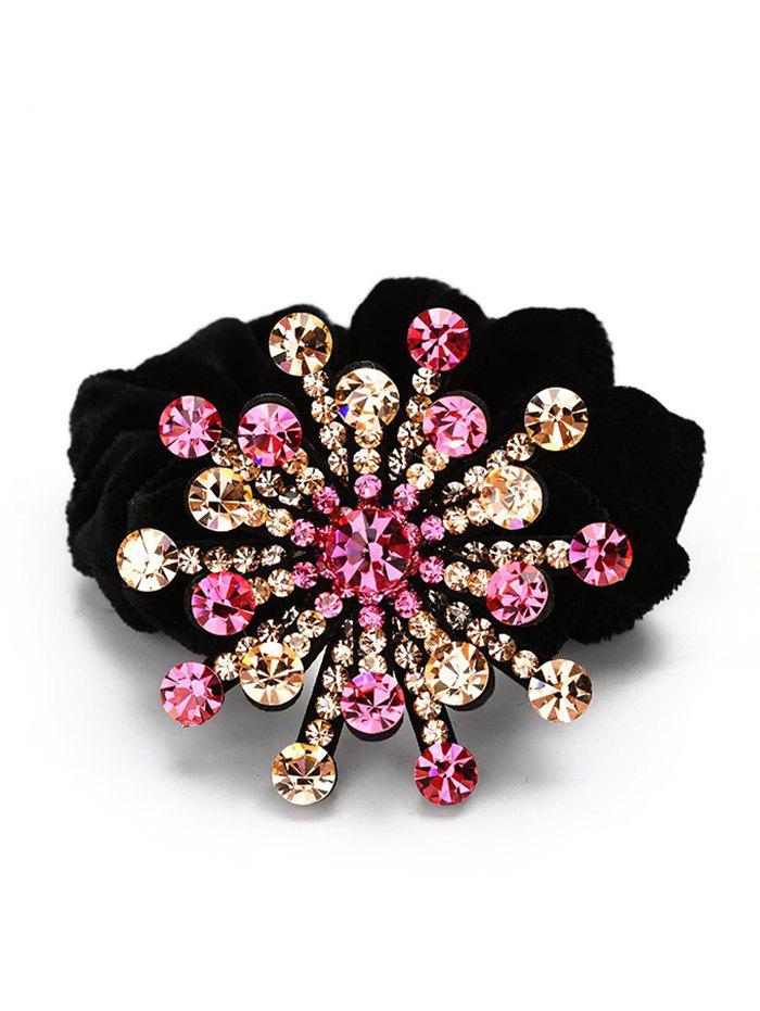 Trendy Floral Decoration Rhinestone Hairband
