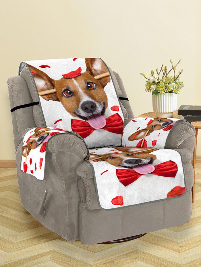 Cheap Valentines Day Dog Pattern Couch Cover