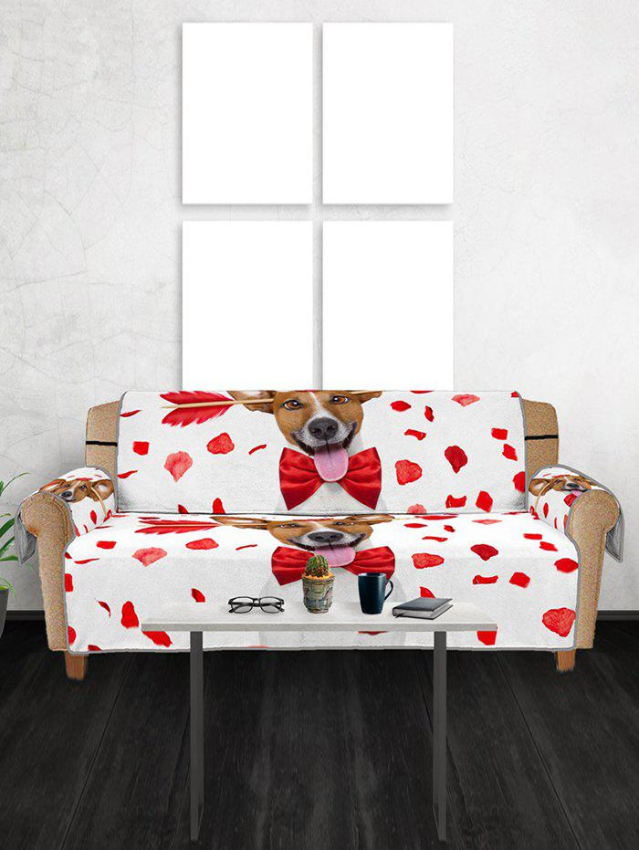 Shops Valentines Day Dog Pattern Couch Cover
