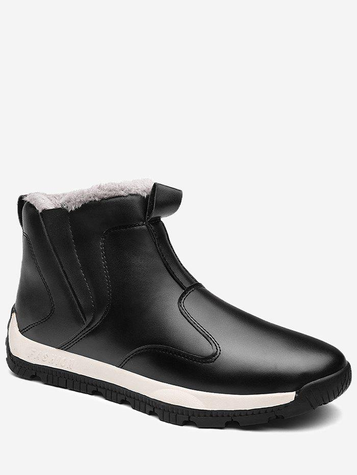 Sale Fur Lined PU Slip On Boots