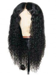 Center Parting Long Water Wave Capless Synthetic Wig -