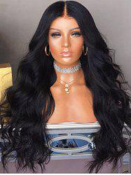 Middle Part Long Capless Body Wave Synthetic Wig -