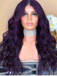 Synthetic Center Parting Long Wavy Party Wig -