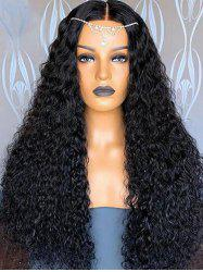 Center Parting Long Shaggy Curly Synthetic Wig -