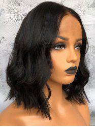 Center Parting Capless Medium Wavy Synthetic Wig -