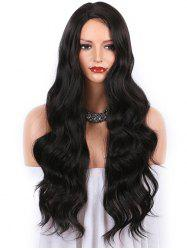 Long Side Parting Capless Body Wave Synthetic Wig -