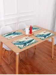 Nautical Cetacean Pattern Placemat -