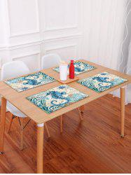 Nautical Sea Horse Pattern Placemat -