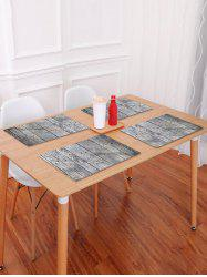 Wood Grain Pattern Table Placemat -