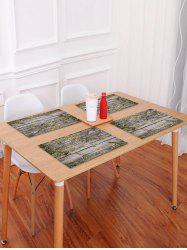 Wood Grain Fallen Leaf Pattern Placemat -