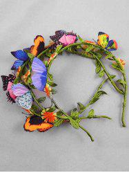 Butterfly Floral Decoration Headband -