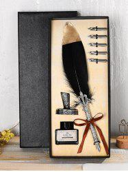 Vintage Feather Pen Gift Set -