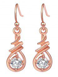 Faux Gem Decoration Alloy Earrings -