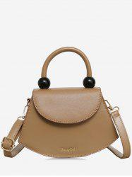 Fan Shape Beads Crossbody Bag -