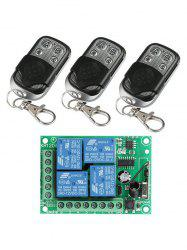4 Channel Relay Receiver Module and 3 Pcs Wireless Remote Control -