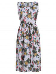 Pineapple Printed Midi Dress -