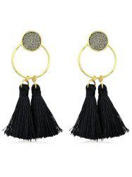 Bohemia Metal Ring Fringe Drop Earrings -
