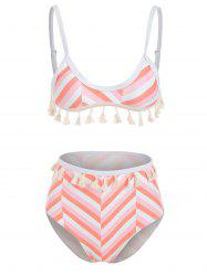 Striped Tassels Bikini Set -