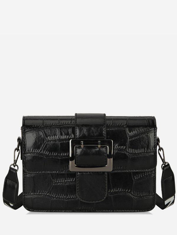 Cheap Leather Striped Square Buckle Shoulder Bag