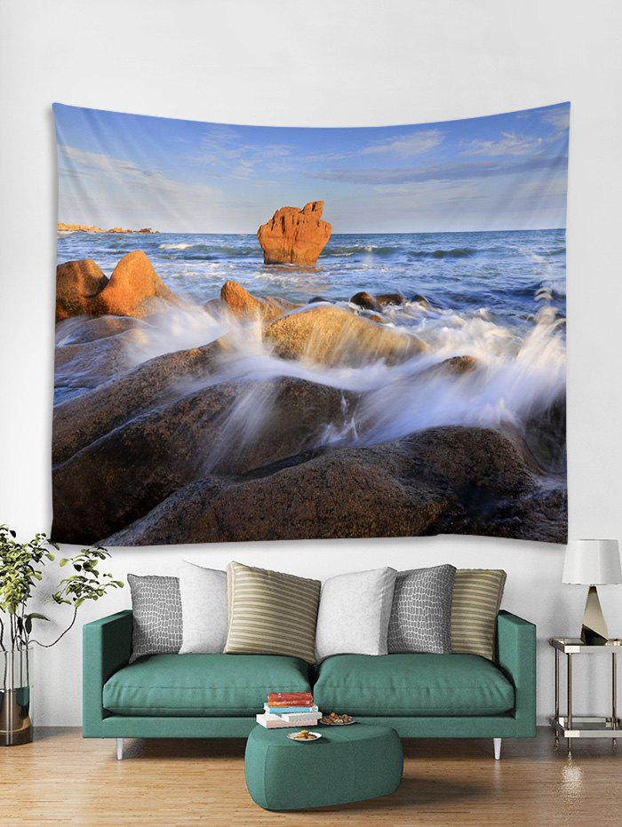 Unique Seaside Rock Print Tapestry Wall Hanging Art Decoration