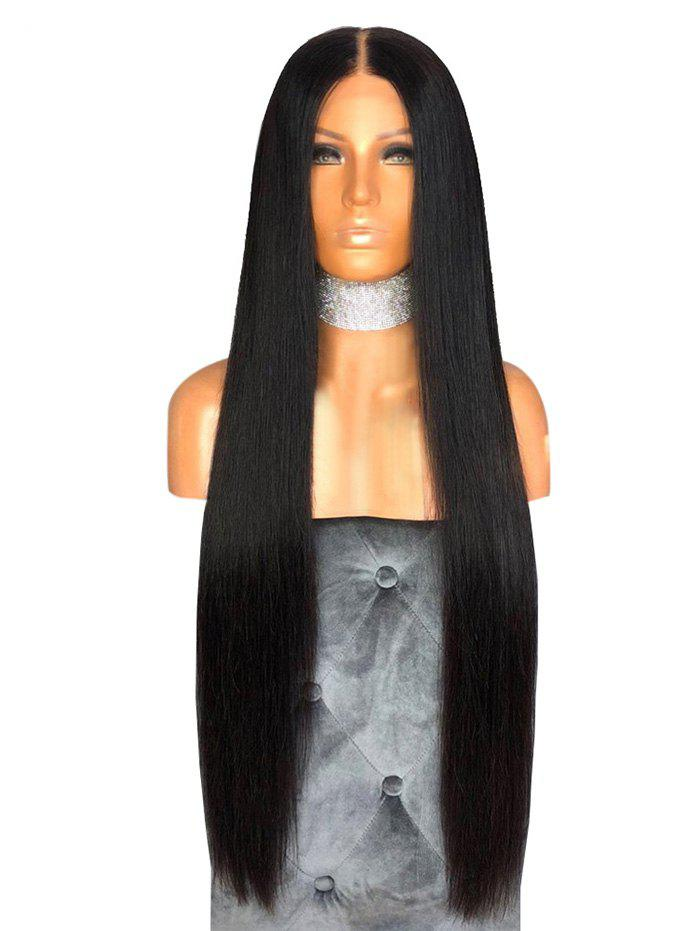 Cheap Synthetic Long Middle Part Capless Straight Wig
