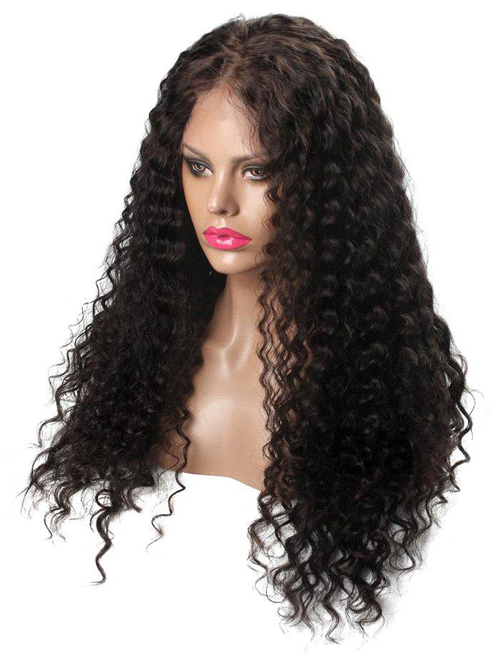 Unique Center Parting Long Deep Curly Capless Synthetic Wig