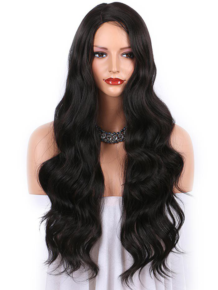 Store Long Side Parting Capless Body Wave Synthetic Wig