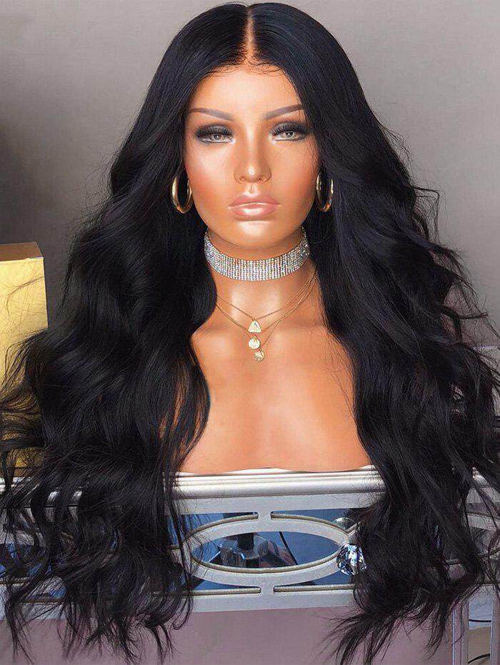 Outfits Middle Part Long Capless Body Wave Synthetic Wig