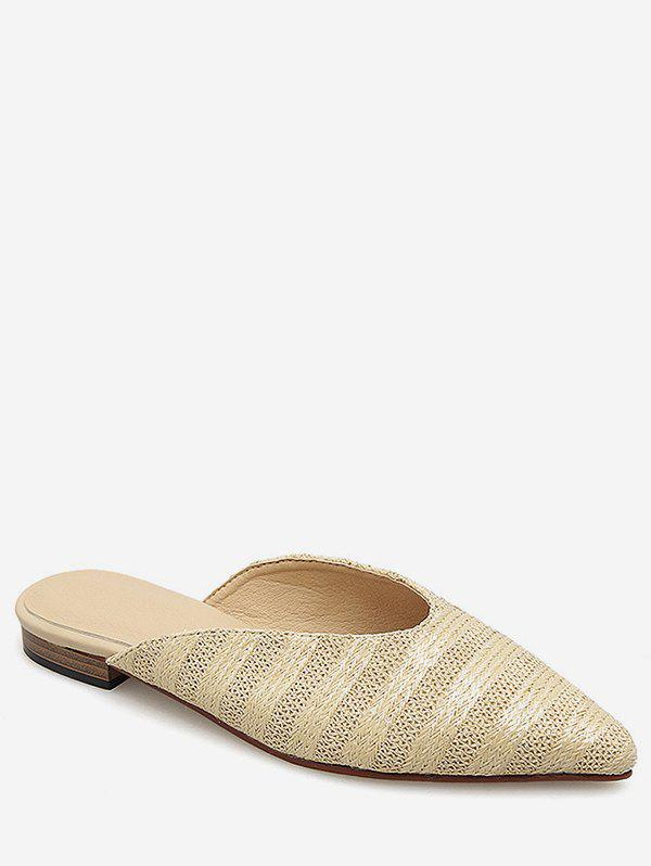 Buy Pointed Toe Braided Stripe Flats