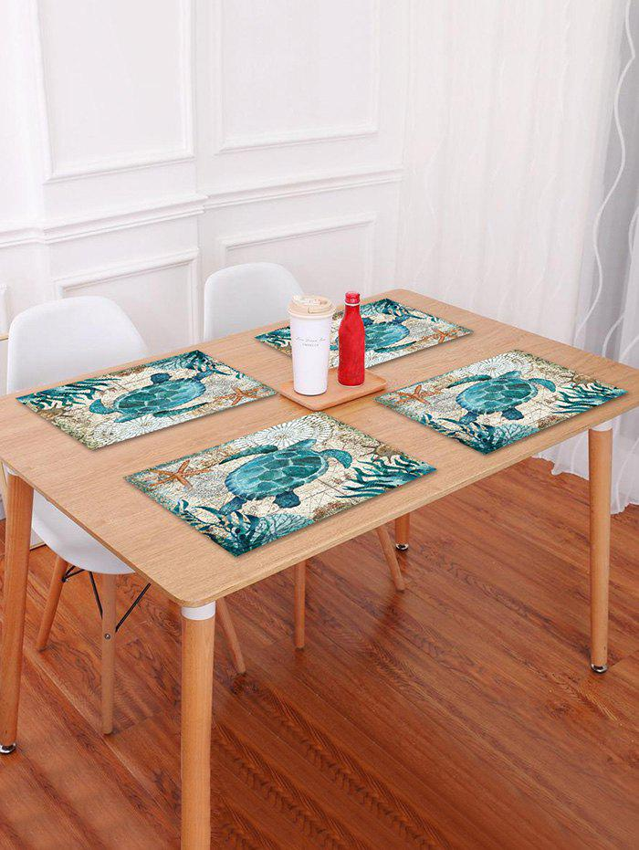Online Nautical Turtle Pattern Placemat