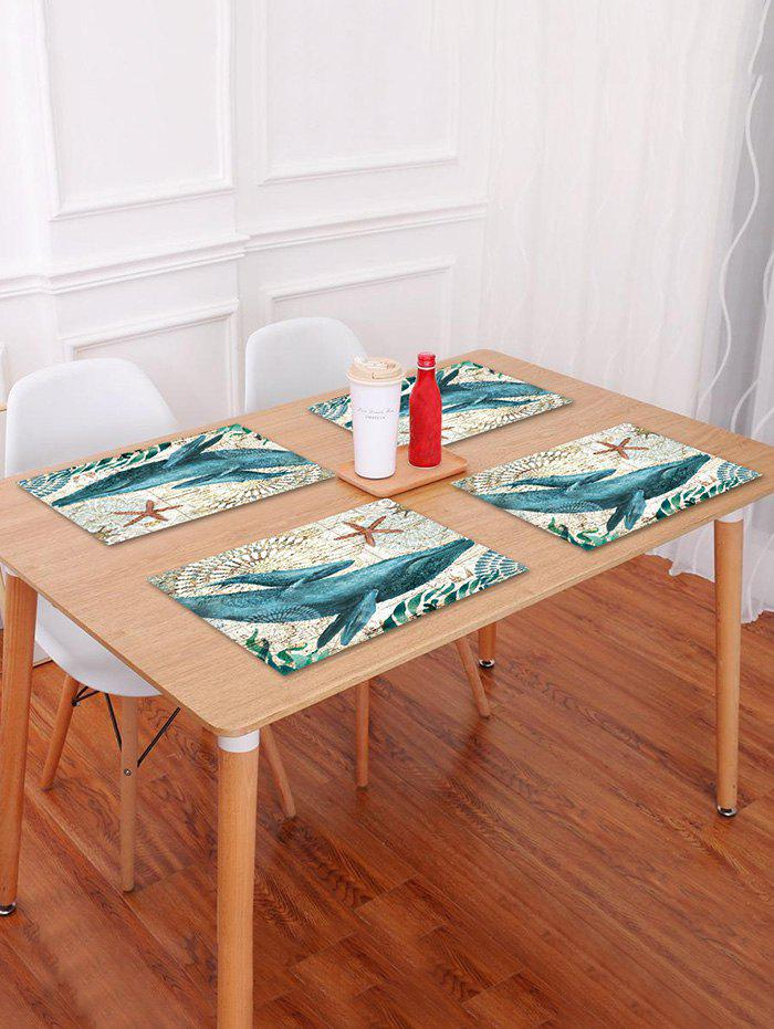 Hot Nautical Cetacean Pattern Placemat