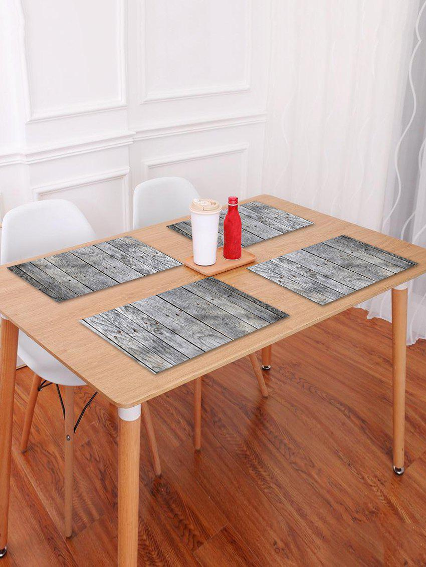 Hot Wood Grain Pattern Table Placemat