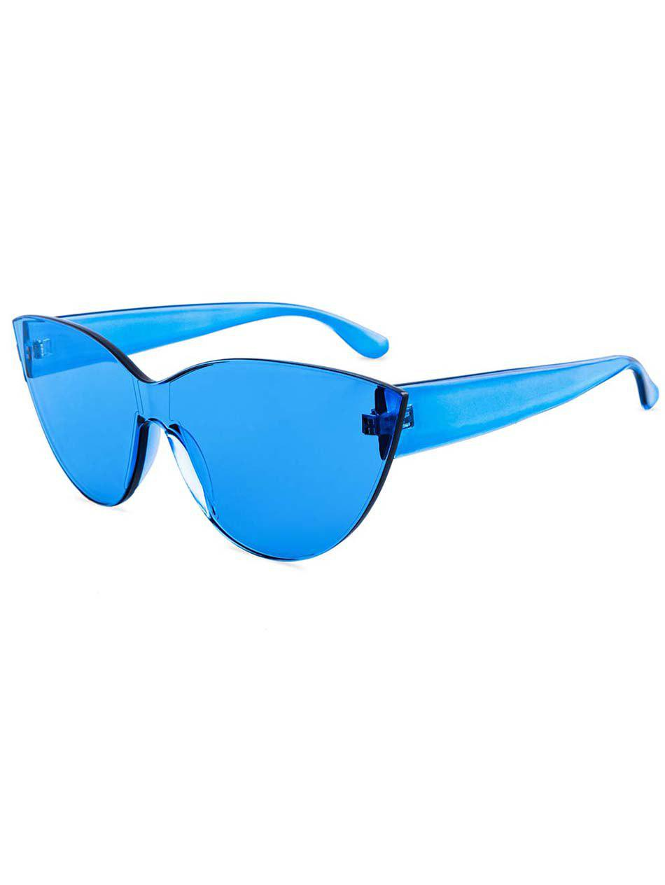 Discount Jelly Color Frameless Beach Sunglasses