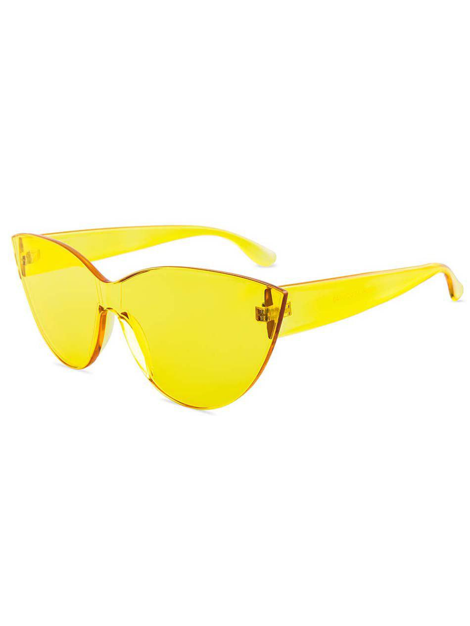 Sale Jelly Color Frameless Beach Sunglasses
