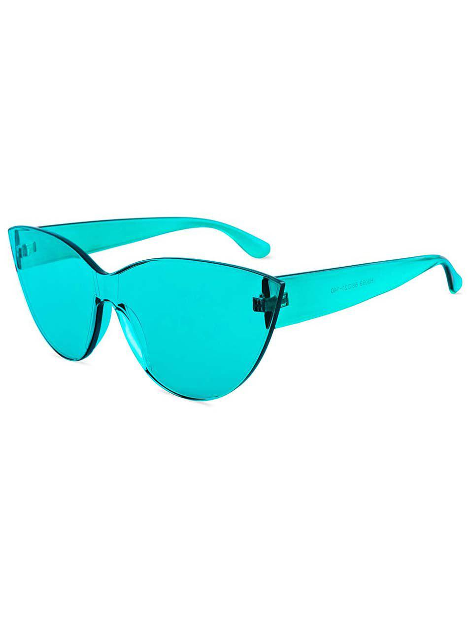 Cheap Jelly Color Frameless Beach Sunglasses