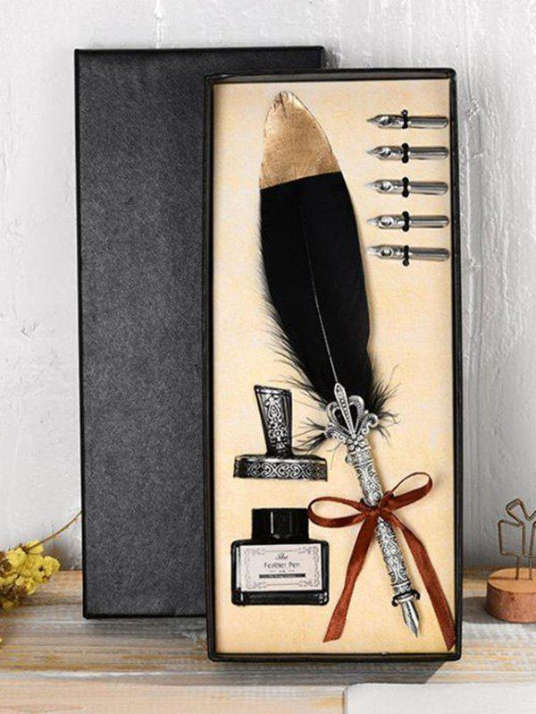 Fancy Vintage Feather Pen Gift Set